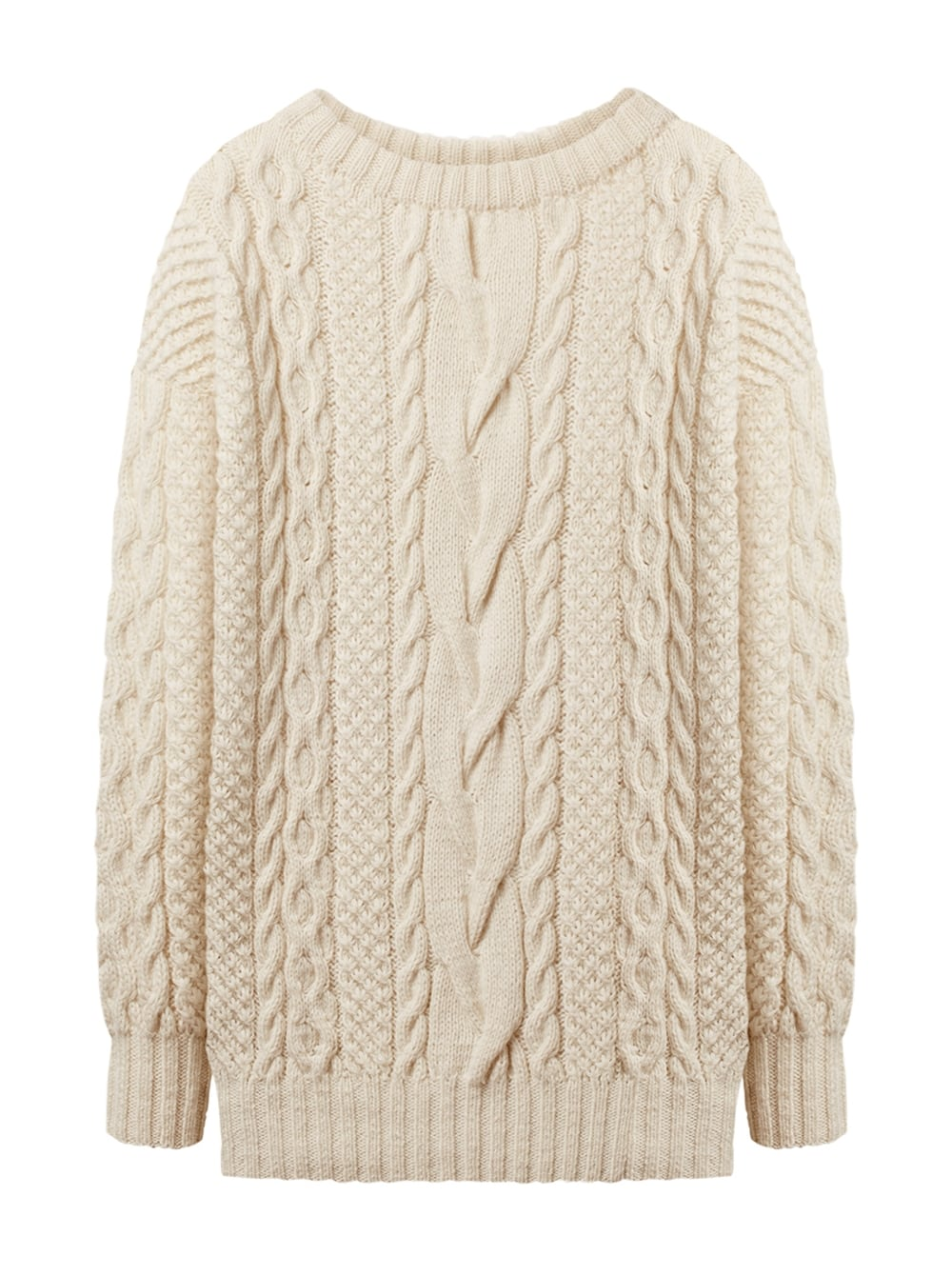 картинка CABLE KNIT SWEATER MILK - Maltseva Style