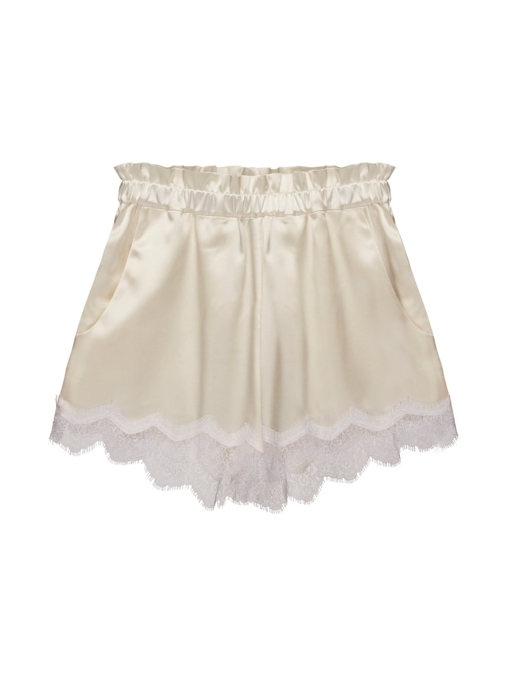 картинка RENATA LACE SHORTS WHITE от магазина Maltseva Style