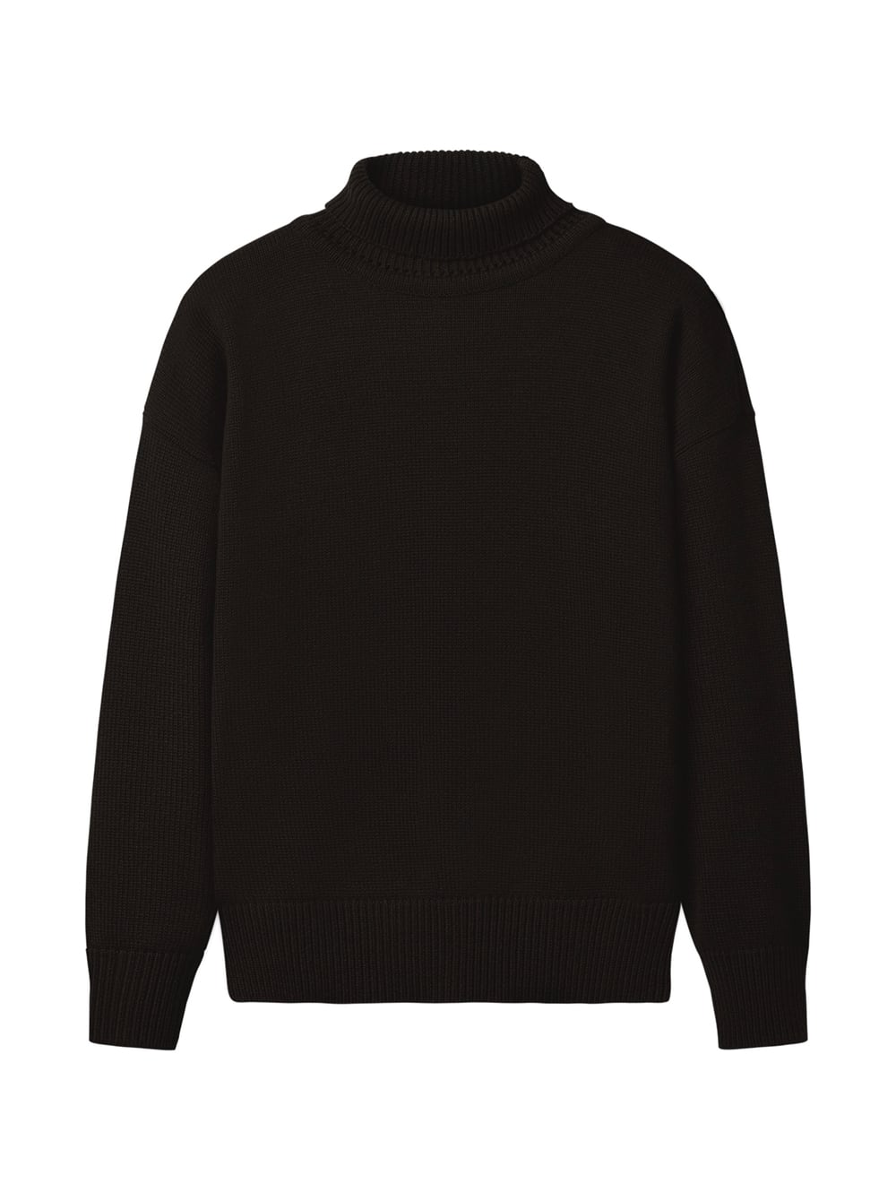 картинка TURTLE NECK SWEATER BLACK - Maltseva Style