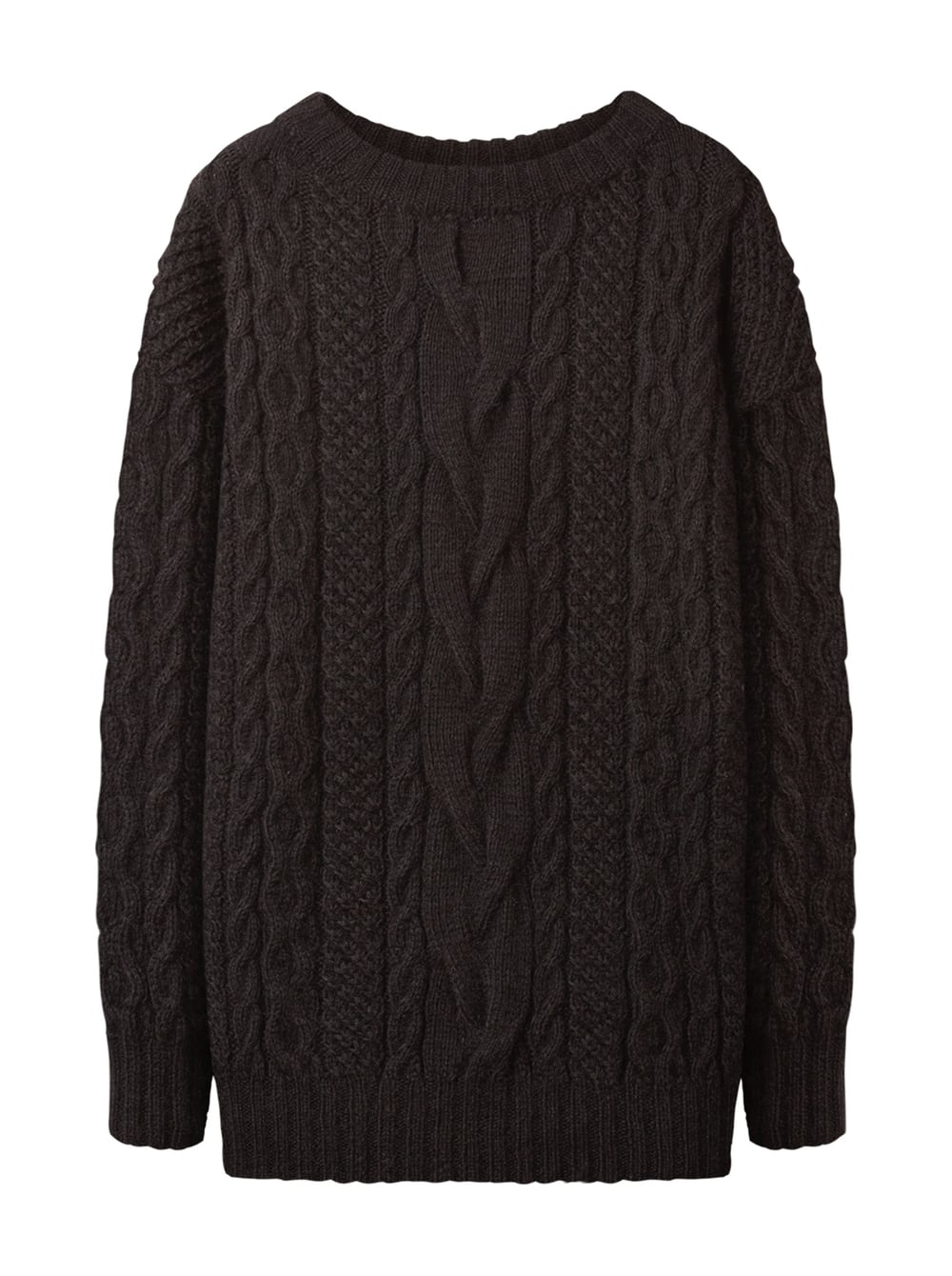 картинка CABLE KNIT SWEATER BLACK от магазина Maltseva Style