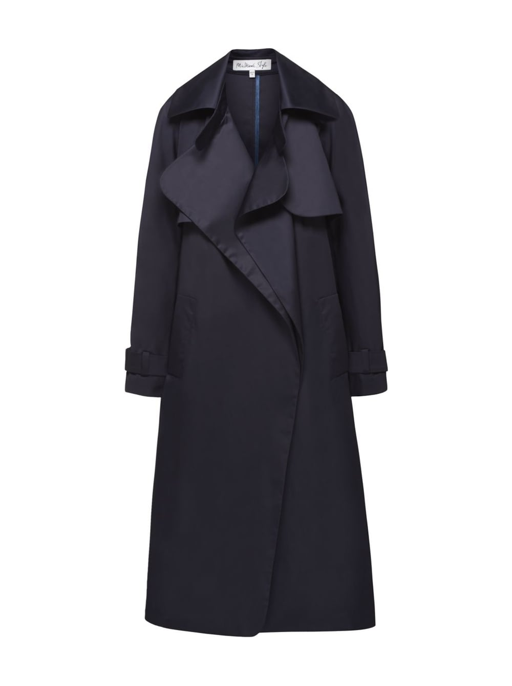 картинка Trench Coat Navy Blue - Maltseva Style
