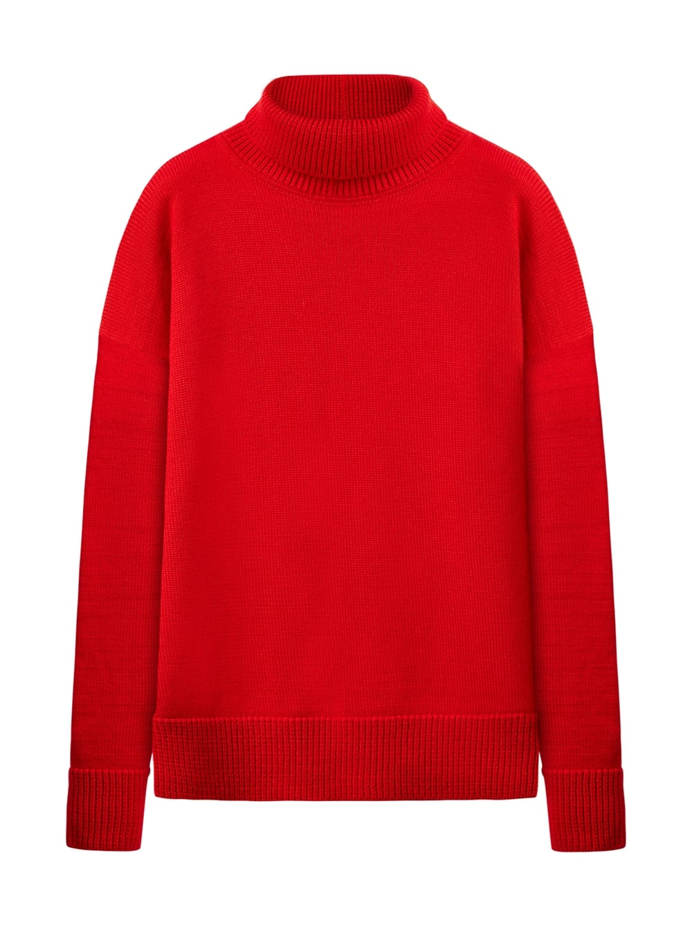 картинка TURTLE NECK SWEATER RED - Maltseva Style